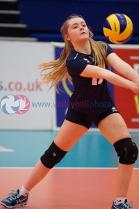 Marr College A 0 v 2 City of Edinburgh A (23, 10), 2018 U16 Girls Scottish Cup, University of Edinburgh Centre for Sport and Exercise, Sun 22nd Apr 2018.  © Michael McConville   https://www.volleyballphotos.co.uk/2018/SCO/Junior-SVL/2018-04-22-Womens-U16-Cup-Final