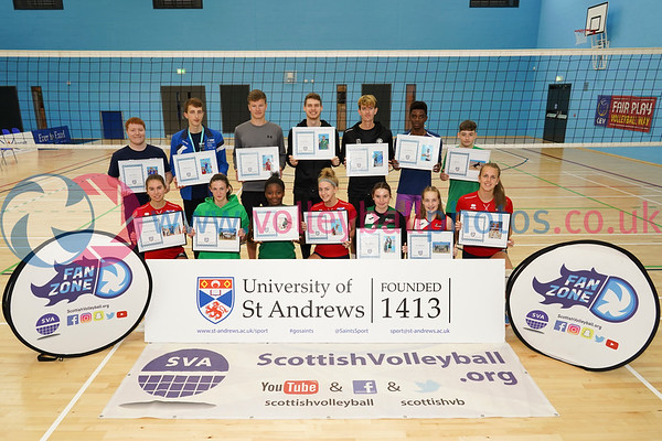 Super Sevens, 2018 Flying Scots International Invitational, University of St Andrews Sports Centre, Sun 2nd Sep 2018.  © Michael McConville. View more photos at:   Boys: https://www.volleyballphotos.co.uk/2018/SCO/NT/U20M/2018-09-02-flying-scots Girls: https://www.volleyballphotos.co.uk/2018/SCO/NT/Junior-Women/2018-09-02-flying-scots