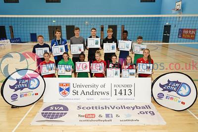 Super Sevens, 2018 Flying Scots International Invitational, University of St Andrews Sports Centre, Sun 2nd Sep 2018.  © Michael McConville. View more photos at:   Boys: https://www.volleyballphotos.co.uk/2018/SCO/NT/U20M/2018-09-02-flying-scots Girls: https://www.volleyballphotos.co.uk/2018/SCO/NT/Junior-Women/2018-09-02-flying-scots