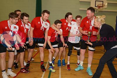 Men's SVL Division 1 League Presentation, Coatbridge High School, Sun 29th Apr 2018. © Michael McConville https://www.volleyballphotos.co.uk/2018/SCO/SVL/2018-04-29-SVL-Presentations
