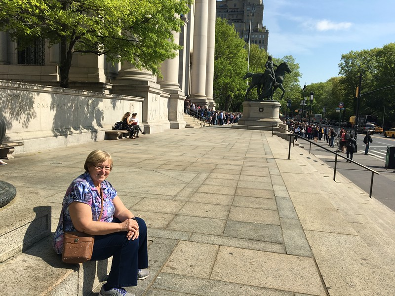 WAITING FOR AMERICAN MUSEUM OF NATURAL HISTORY TO OPEN