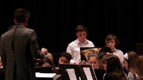 Sam's 7th Grade Winter Band Concert