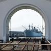 Ship parked at the Embarcadero.