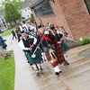Bagpipers lead the Academic Procession for Mount Saint Mary College's 55th Commencement Exercises for the graduating Class of 2018 in Newburgh, NY on Saturday, May 19, 2018. Hudson Valley Press/CHUCK STEWART, JR.