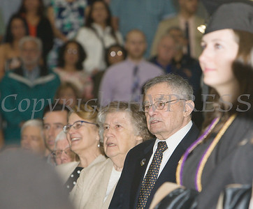 Local philanthropist Mr. William Kaplan attended Mount Saint Mary College's 55th Commencement Exercises for the graduating Class of 2018 in Newburgh, NY on Saturday, May 19, 2018. Hudson Valley Press/CHUCK STEWART, JR.