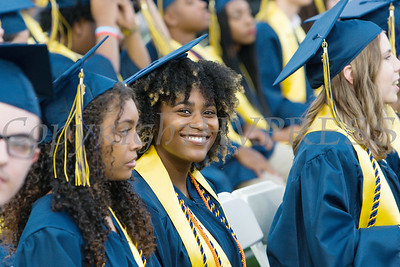 Azariah McLymore is all smiles after receiving her high school diploma during the Newburgh Free Academy graduation exercises. A month earlier she received her A.A.S. Degree from SUNY Orange. Hudson Valley Press/CHUCK STEWART, JR.