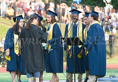 The NFA Madrigals perform during the Newburgh Free Academy 153rd Commencement Exercises for the graduating Class of 2018 on Academy Field in the City of Newburgh, NY on Thursday, June 21, 2018. Hudson Valley Press/CHUCK STEWART, JR.