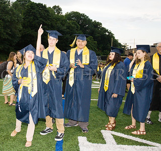 Denisa Mejia-Aguilar screams in excitement during the Newburgh Free Academy Commencement Exercises on Thursday, June 21, 2018. Hudson Valley Press/CHUCK STEWART, JR.