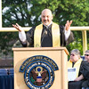 Newburgh Free Academy Main Campus Co-Principal Raul Rodriguez offers remarks during the 153rd Commencement Exercises for the graduating Class of 2018 on Academy Field in the City of Newburgh, NY on Thursday, June 21, 2018. Hudson Valley Press/CHUCK STEWART, JR.