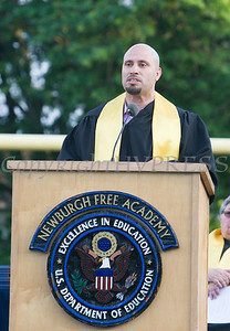 Superintendent of Schools Dr. Roberto Padilla certifies students of Newburgh Free Academy during the 153rd Commencement Exercises for the graduating Class of 2018 on Academy Field in the City of Newburgh, NY on Thursday, June 21, 2018. Hudson Valley Press/CHUCK STEWART, JR.