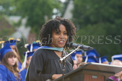 Quamisha Desroches, a 2009 Poughkeepsie High School graduate, was the keynote speaker for the 146th Commencement Exercises for the graduating Class of 2018 on Friday, June 26, 2018 in Poughkeepsie, NY. Hudson Valley Press/CHUCK STEWART, JR.