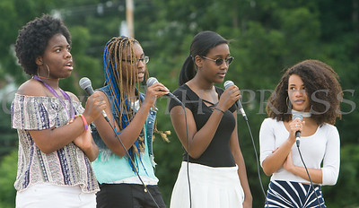 """Select members of the Poughkeepsie High School Chorus performed """"I Was Here"""" by Beyonce during the Poughkeepsie High School 146th Commencement Exercises for the graduating Class of 2018 on Friday, June 26, 2018 in Poughkeepsie, NY. Hudson Valley Press/CHUCK STEWART, JR."""