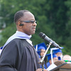 Ronald Jackson, Acting Principal, offers remarks during the Poughkeepsie High School 146th Commencement Exercises for the graduating Class of 2018 on Friday, June 26, 2018 in Poughkeepsie, NY. Hudson Valley Press/CHUCK STEWART, JR.