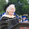 Assistant Superintendent Dr. Kathleen Farrell offers remarks during the Poughkeepsie High School 146th Commencement Exercises for the graduating Class of 2018 on Friday, June 26, 2018 in Poughkeepsie, NY. Hudson Valley Press/CHUCK STEWART, JR.