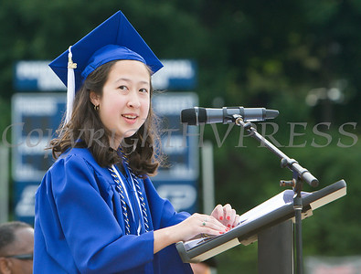 Rommi Vetter offers the Valedictory Address during the Poughkeepsie High School 146th Commencement Exercises for the graduating Class of 2018 on Friday, June 26, 2018 in Poughkeepsie, NY. Hudson Valley Press/CHUCK STEWART, JR.