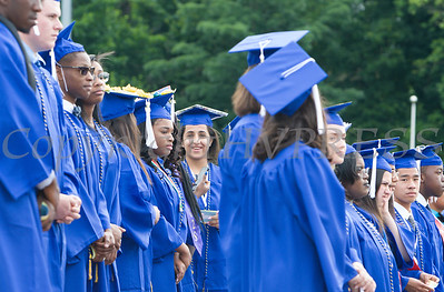 Poughkeepsie High School held its 146th Commencement Exercises for the graduating Class of 2018 on Friday, June 26, 2018 in Poughkeepsie, NY. Hudson Valley Press/CHUCK STEWART, JR.
