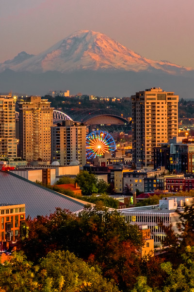 Seattle Icons at Sunset