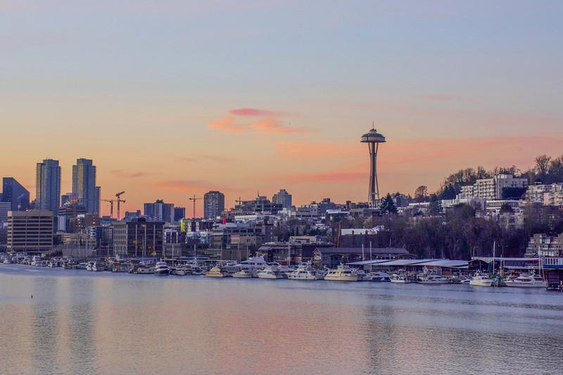 Pastel Seattle Sky