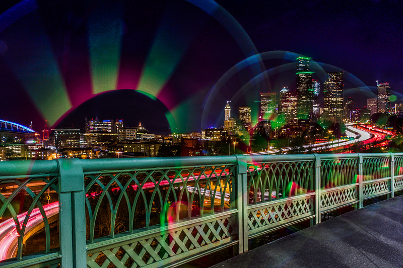 Bridge Light Painting