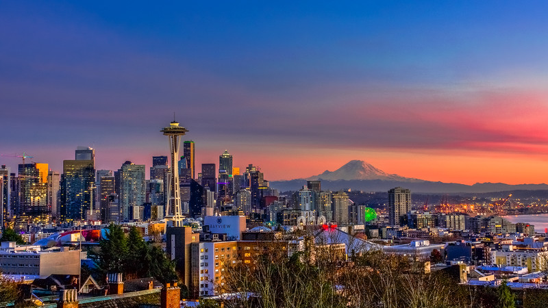 Seattle Sunset Panorama