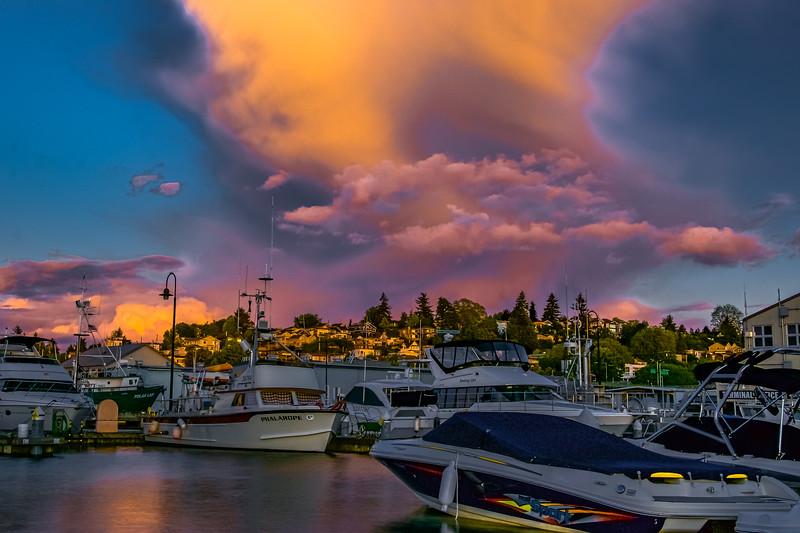 Drama Clouds at Sunset
