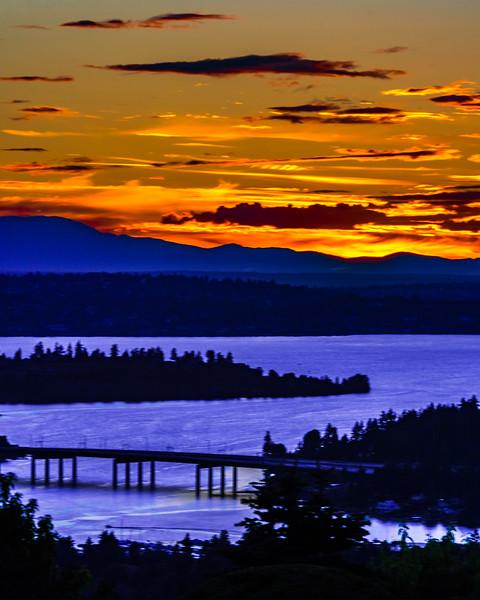 A Golden Sunset Afterglow