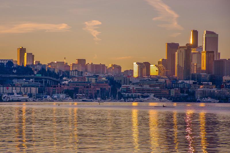 Golden Seattle Sunrise
