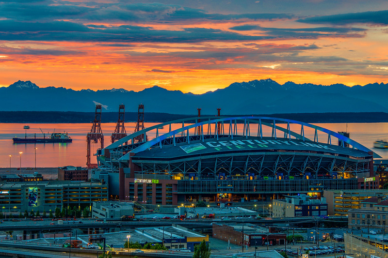 Golden Sunset at CenturyLink Field