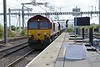 19 September 2018 :: Passing the new platform extension at Didcot is 66134 with 4B35 from Acton to Moreton-on-Lugg