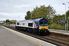 14 September 2018 :: In the new Cemex livery is 66780 (ex 66008) working through Basingstoke as train 0E08 from Eastleigh to Doncaster