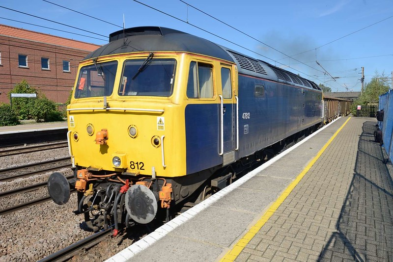 13 September 2018 :: ROG provided 47812 to work a train of JRA wagons from Barrington to Eastleigh and seen at Welwyn Garden City
