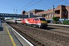 13 September 2018 :: LNER Class 92, 91118 passes though Welwyn Garden City with 1S12, the 1030 from King's Cross to Edinburgh