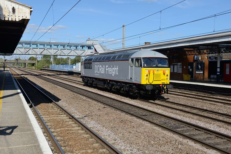 13 September 2018 :: At Welwyn Garden City, DC Rail Freight 56103 returned from Foxton as 0Z40 to Wembley