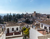 View across the roofs to the Church of El Salvador