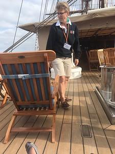 Carolyn relaxing on deck - Grace Penn