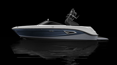 Black Hull Bottom, Horizon Hull Side Aft, Sea Ray Blue Metallic Hull Side Forward