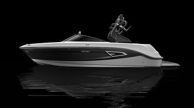 White Hull Bottom, Silver Metallic Hull Side Aft, Black Hull Side Forward