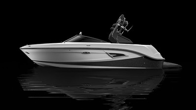 White Hull Bottom, Black Metallic Hull Side Aft, White Hull Side Forward
