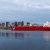 The tanker Iver Properity headling out sea from Boston.