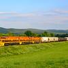 New England Centrail Railroad train 611 crosses into Vermont at Vernon.