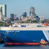 The NYK LIne Auto Carrier Demeter Leader arriving in Boston Harbor on June 14, 2018.