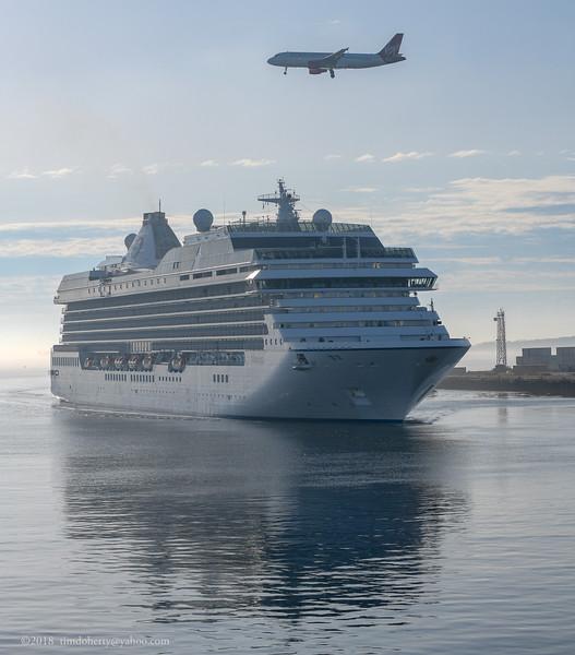 The Cruise Ship Marina arriving at Black Falcon Termial in Boston