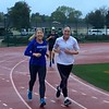 Linda and Julie getting their miles in