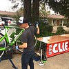 Tim checking bikes