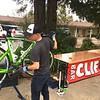 Tim checking bikes