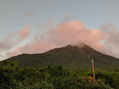 and a view of Nevis Peak