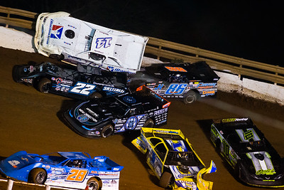Dennis Erb, Jr. (28), Vic Hill (1), Scott Bloomquist (0), Gregg Satterlee (22), Darrell Lanigan (14), Jeff Neubert (86) and Chad Ogle (10)