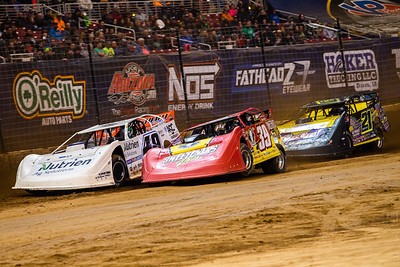 Jonathan Davenport (49), Tim McCreadie (39) and Billy Moyer (21)