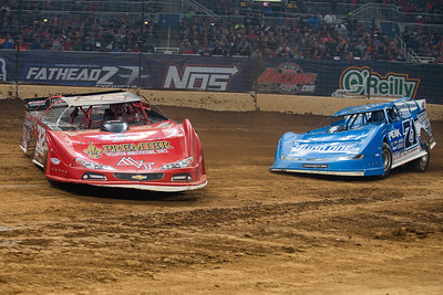 Bobby Pierce (32) and Don O'Neal (71)