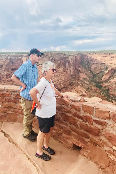 Steve and Kathy enjoying the canyon view - Livia McCarthy